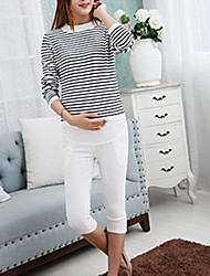 Maternity Simple Shorts Pants,Nylon Micro-elastic