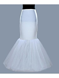 Slips Mermaid and Trumpet Gown Slip Floor-length 1 Polyester White