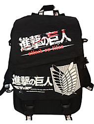 Bolsa Inspirado por Attack on Titan Fantasias Anime Acessórios de Cosplay Bolsa / mochila Preto Náilon Masculino / Feminino
