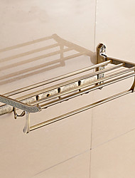 Antique Brass Material Bathroom Shelf