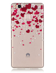 TPU + IMD Material Love Pattern Slim Phone Case for Huawei P9 Lite/P9/P8 Lite/Y625