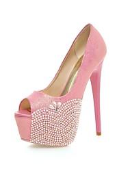 Women's Shoes Leatherette Stiletto Heel Heels / Peep Toe / Platform Sandals Wedding / Party & Evening / Dress