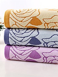 "1 Piece Full Cotton Hand Towel 29""by13"" Floral Pattern MultiColor Super Soft Strong Water Absorption Capacity Thickening"