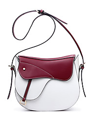 Women-Casual-Cowhide-Shoulder Bag-Blue / Red
