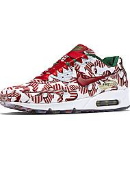 Sapatos Corrida Feminino Vermelho / Cinza / Preto e Vermelho / Preto e Branco Couro / Tule