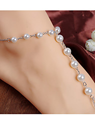 The Rosary Pearl Mitten Anklet