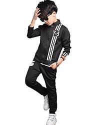 Boy's Casual Sports Print Clothing Set (Coat & Pants)