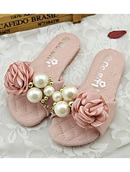 Girl's Slippers & Flip-Flops Summer Comfort PU Outdoor Pink White