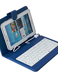 10inch Universal Tablet Case With Keyboard Blue