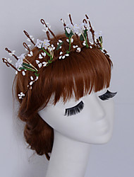 Women's Fabric Headpiece-Wedding / Outdoor Elegant Birdal Tiaras Wreaths 1 Piece