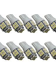 10pcs 1206 blanc voiture wedge t10 conduit licence auto ampoule lampe clairance de la plaque de lecture légère (DC12V)