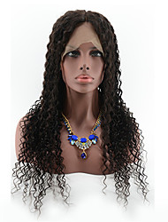 Brazilian Lace Front Human Hair Wigs Wet Wavy Glueless Human Hair Wigs For Black Women 130% Curly Front Lace Wigs