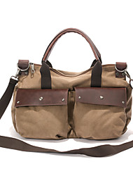 Mens Vintage Canvas Messenger Bag Travel Military Handbag Shoulder Book Bag