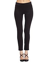 твердые черные узкие брюки heartsoul женские, простой