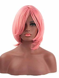 Fashion Pink Women's Synthetic Wigs