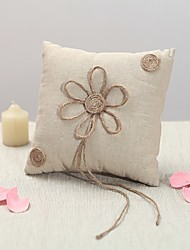 Vintage Rustic Wedding Ring Pillow