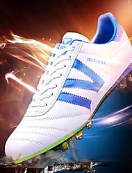 Sapatos Futebol Masculino Preto / Branco / Preto e Branco Couro Envernizado