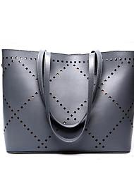 Fashion Business Lady Multifunction Large Capacity Hollow Design Genuine Leather Shoulder Bag