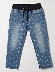 Girl's Casual/Daily Print Pants,Cotton Fall Blue