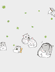 Kindergarten DIY Cute Lovely Hamster Wall Stickers Cartoon Children's Bedroom Glass Wall Decals