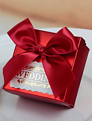 30 Piece/Set Favor Holder-Cubic Card Paper Ribbons Bow Wedding Favor Boxes Candy Boxes
