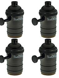 youoklight 4pcs e27 zufällige Farbe Lampenfassung Jahrgang edison Anhänger mit Knopf Lampenhalter - schwarz-rose gold