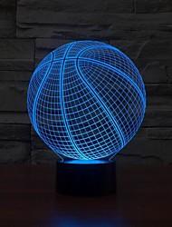 3d форма баскетбол привели искусство скульптуры ночное освещение настольная лампа 3d визуализации домашнего изменения цвета свет ночи