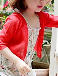 Girl's Casual/Daily Patchwork Suit & Blazer,Cotton Summer / Spring / Fall Red / White