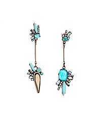 European Luxury Gem Geometric Earrrings Aristocratic style Irregular Drop Earrings for Women Fashion Jewelry Best Gift
