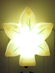 (Cor aleatória) cogumelo vaso de controle de luz luz da noite de poupança de energia