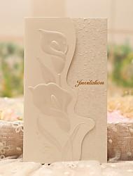 Personalizado Tri-Dobrado Convites de casamento Cartões de convite-50 Peça/Conjunto Estilo Clássico Papel Pérola