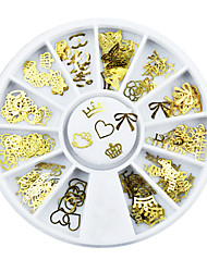 120 pcs clou d'or autocollant palette