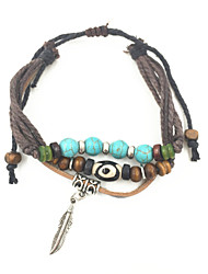 Bracelet Bracelets en cuir Cuir Mode / Style Punk / Ajustable Soirée / Décontracté / N/C Bijoux Cadeau Poil de Chameau / Bleu / Vert,1pc