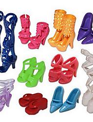 1483 аксессуары / куклы могут дети и другие 10 пар обуви костюмы игрушки / новые сандалии, содержащие 100 комплектов