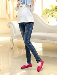 Mutterschaft Hose - Jeans Einfach Baumwolle Unelastisch