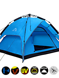 Double Layer 3-4 Person Rainproof Outdoor Family Camping Tents Hiking Quick Automatic Set Up Opening Tent Waterproof