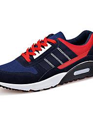 Herren-Sneaker-Sportlich-Wildleder Tüll-Flacher Absatz-Komfort-Schwarz Blau