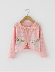 Girl's Casual/Daily Patchwork Suit & Blazer,Cotton Spring Pink / White / Yellow
