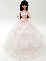 Universal (Excluding Baby) 5 Clothes Wedding Dress Full Bag Big Skirt Trailing Wedding Dress Design 30 Cm Doll Skirt