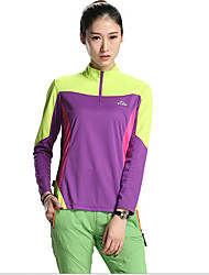 SPAKCT Cycling Jersey Women's Long Sleeve Bike Breathable Jersey + Shorts Tops Terylene Tactel Fashion Summer Exercise & FitnessPurple