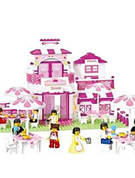 blocos de construção Luban pequenos montados restaurante plástico brinquedos educativos b0150 infantil românticas