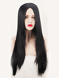 Capless Black Color Natural Straight High Quality Synthetic Wig