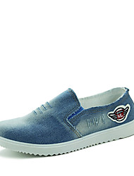 Men's Flats Spring Fall Comfort Canvas Casual Flat Heel Others Blue Navy Walking