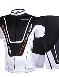 Sportif Vélo/Cyclisme Hauts/Tops / Bas Homme Manches courtes Respirable / Elastique / Anti-transpiration Maille BlancS / M / L / XL / XXL