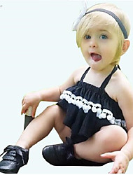 Girl's Casual/Daily Solid Tank & Cami / Underwear Set of 2pcs,Cotton Summer / Spring / Fall Black