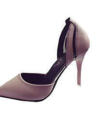 Для женщин Обувь на каблуках Полиуретан Лето Повседневные На шпильке Черный Синий Розовый 7 - 9,5 см
