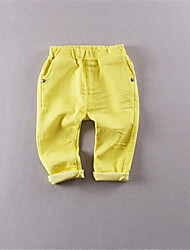 Girl's Casual/Daily Solid Pants,Cotton Summer Green / White / Yellow