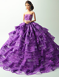 Party & Evening Costumes For Barbie Doll Purple Dresses