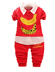 Boy's Casual/Daily Print Clothing Set,Cotton Fall Black / Blue / Green / Red