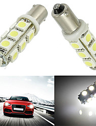 10pcs BA9S 13SMD 5050 White Color Car Auto LED LED Light Bulb Lamp (DC12V)